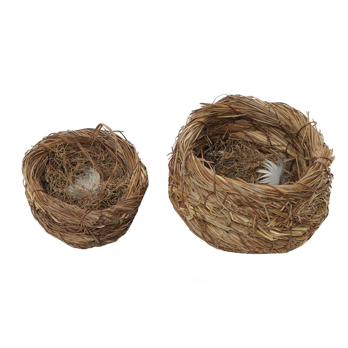 "SISAL AND GRASS 3.75""X2.75"" NEST BASKET - Click Image to Close"